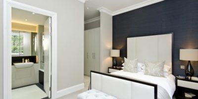 Stylish new bedroom with en suite bathroom