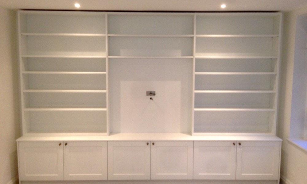 Bespoke white wooden storage unit