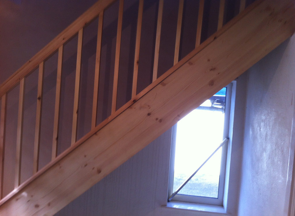 Wooden loft staircase