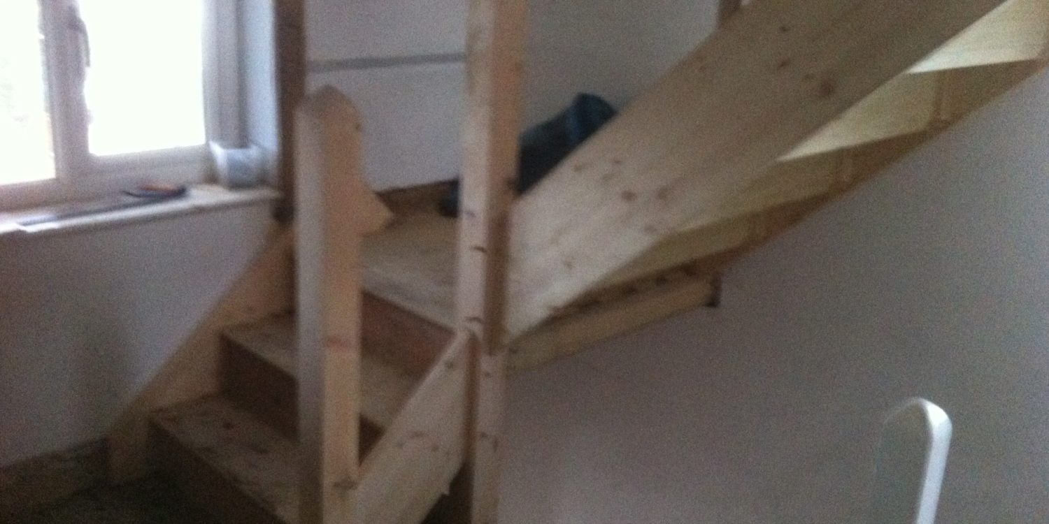 staircase in construction in Essex