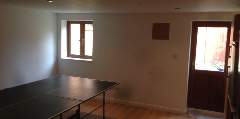 Refitted basement room
