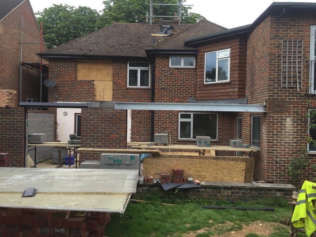 Large rear extension in progress