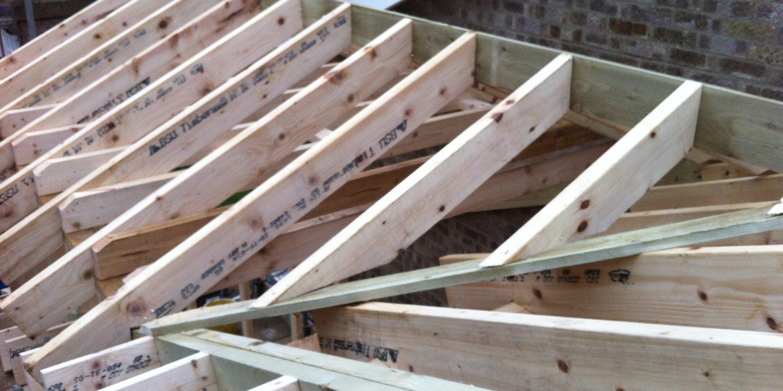 Loft conversion under construction