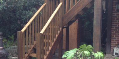 External hardwood staircase